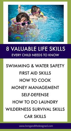 Awesome list of life skills - all of these are equally important to teach our kids before they're out of the house!