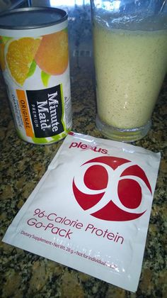 Dreamsicle shake. Only 96 calories!! 1 packet of vanilla Plexus 96 1 heaping Tbsp. orange juice concentrate (or 3-4 Tbsp. orange juice) 8 oz. 2% milk (Vanilla Almond Milk or \
