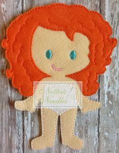 Jacqueline Felt Doll by NettiesNeedlesToo on Etsy, $7.00