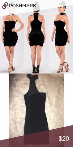 4b17aa71e7fc8 Velvet dress Black velvet choker dress from fashion nova Fashion Nova  Dresses Mini Black Velvet Dress