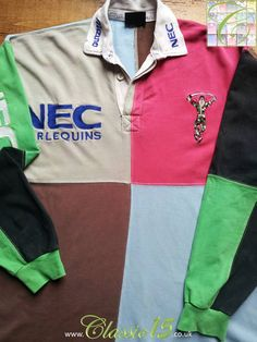 a554abba27 Relive Harlequins' season with this vintage Mizuno home long sleeve rugby  shirt.