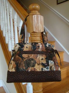 Quilted Tote Handbag        BEAUTIFUL DOGS by sewartzee on Etsy, $43.00