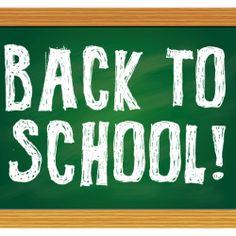 Back to School Chalkboard Vector Free