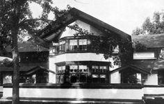 B. Harley Bradley House. 1900. Kankakee, Illinois. Prairie Style. Frank Lloyd Wright