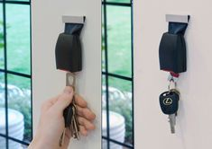 "Get yourself fastened and get ready for a cute and pretty intelligent way of keeping your keys in order. This is the ""Buckle Up"" key holder for your rings and rings of keys which you've gotta hang up by the door or your bound to lose. Do it in such a brilliantly relative way with this seat buckle-turned-hook and never crash into key loss again."