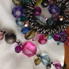 A multi gem jewelry set A jewelry set comes with a stretchable bracelet and matching necklace about 16 inches in length. If you want purchase it separately let me know. Offers allowed Jewelry Necklaces