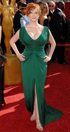 curvy curvy curvy  ...  beautiful  http://realgirlslingerie.com/ carpet curv, emerald, curvi curvi, red carpets, green dress, beauti, christine hendricks, christina hendricks, curvi girl