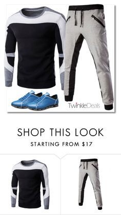 """sport"" by fatimka-becirovic ❤ liked on Polyvore featuring men's fashion and menswear"