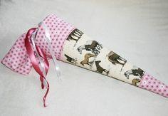 Stoff Schultüte Zuckertüte Pferde von Bei Irene auf DaWanda.com