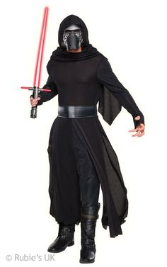 Buy Star Wars Deluxe Kylo Ren Costume at Mighty Ape NZ. Star Wars Deluxe Kylo Ren Costume Star Wars Episode VII: The Force Awakens officially licensed deluxe Kylo Ren costume Includes robe, hooded cape, be. Star Wars Halloween, Kylo Ren Halloween Costume, Kylo Ren Costumes, Villain Costumes, Halloween Men, Trendy Halloween, Halloween Club, Halloween Fashion, Spirit Halloween