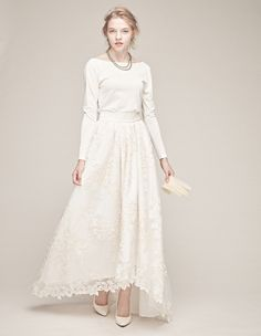 separate dress(plane knit・tulle race SK)