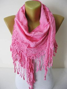 Pink scarf-Fashion Scarves-Trend Scarf gift Ideas For Her