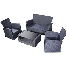 Outsunny Outdoor 11-Piece PE Rattan Wicker Table and Chair Patio ...