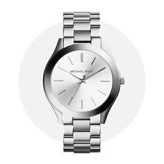 Michael Kors Slim Runway Silver Mk3178 Michael Kors Watch, Runway, Stainless Steel, Slim, Watches, Silver, Accessories, Wristwatches, Cat Walk