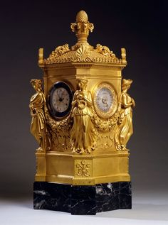 An Empire astronomical clock by Jean Joseph Lepaute #antiqueclocks