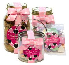 Personalized Valentine Favors or Gifts ~ cute container ideas