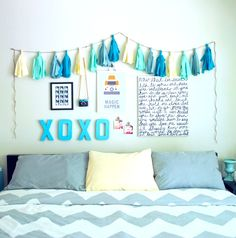 Transform your blank white walls into a unique, fun space! Check out more ideas for decorating your space on the Rent.com blog.