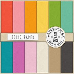 Solid Digital Paper Pack Scrapbook Paper by NorthSeaStudio