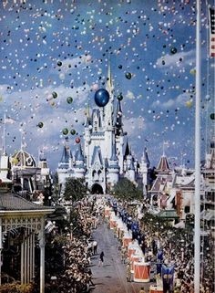 Opening day at Walt Disney World, Florida. Life Magazine, December 1971.