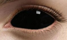 There is something really creepy about black contact lenses - no centre to make eye contact. Perfect for ghosts! Colored Eye Contacts, Green Contacts, Kohl Makeup, Sfx Makeup, Makeup Eyes, Halloween Contacts, Halloween Makeup, Demon Halloween Costume, Halloween Tricks