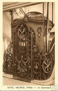 Wrought iron elevator