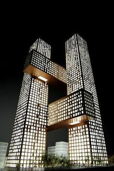 BIG's residential towers in the Yongsan International Business District,Seoul, South Korea.