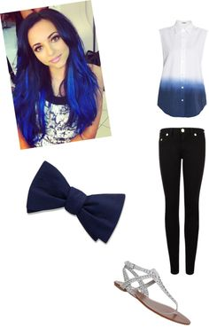 """""""BLUE"""" by courtlynn330 ❤ liked on Polyvore"""