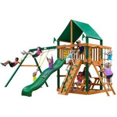 Gorilla Playsets Chateau II Deluxe Cedar Play Set-01-0003-1 at The Home Depot