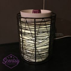 """""""Etched Core"""" Scentsy Warmer with """"Loom"""" Warmer Wrap"""