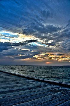 Storm clouds off the Seaford Pier - Victoria, Australia