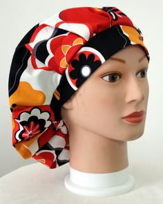 Hawaiian Hibiscus Bouffant Surgical Scrub Hat by duehringphotocc, $5.00