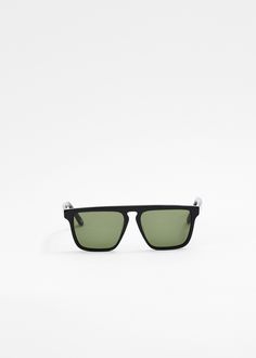Silver Lining Opticians Men's Phosphorus Sunglasses (Black Gloss/ Vintage Green)