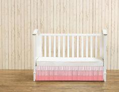 Ombre Ruffle Crib Skirt  3 tier waterfall skirt by DnileDesign, dniledesign.etsy.com #nursery #ombre