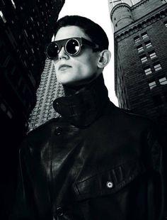 Arthur Gosse & John Todd are Ready to Conquer Manhattan for Numéro Homme image Arthur Gosse John Todd Numero Homme 03 Dark Fashion, Leather Fashion, Mens Fashion, John Todd, Manhattan, Corporate Portrait, Conceptual Fashion, The Fashionisto, Cyberpunk Fashion