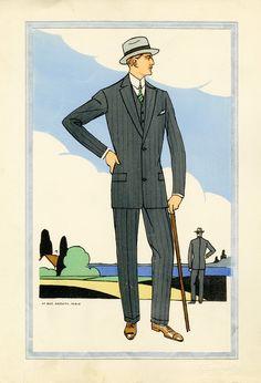 1920s Mens Fashion short suit jackets became popular