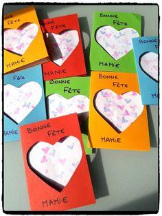 Carte coeurs pour la fête des mamies