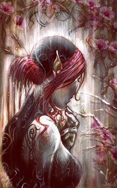 Black Orchid by Daniela Giubellini Fantasy Artwork, Fantasy Women, Dark Fantasy, Illustrations, Illustration Art, Dark Elf, Black Orchid, Fantasy Warrior, Mo S