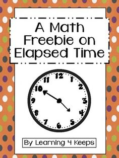 This freebie is for two printables that focus on elapsed time. The students must look at the first clock and figure out how much time has elapsed to the second in 5 minute increments. It would be a great introduction to the topic and can be used for a pre-assessment, independent practice, group work, centers, homework or sub work.