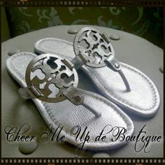 Tory Burch thong miller sandal silver