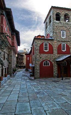 Monastery of Karakalou, Mount Athos, Greece The Holy Mountain, New Urbanism, Christian World, Greece Travel, Beautiful Landscapes, Places To See, Beautiful Places, Macedonia, Wanderlust