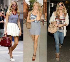 Sienna Miller a pásiky Light Spring, Sienna Miller, Jar Lights, Pink, Vintage, Style, Fashion, Swag, Moda