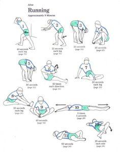 Post-run stretching   running