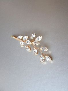 Bridal crystal bobby pin Swarovski crystal bobby by SabinaKWdesign