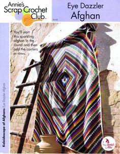 Annie's+Scrap+Crochet+Club | Annie's Scrap Crochet Club Eye Dazzler Afghan Crochet Pattern