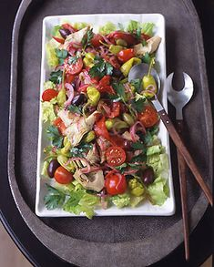 Antipasto Salad by Gourmet-This salad has just the right mix of ingredients & the dressing is delicious. Add a little sliced mozzarella & salami--there won't be any leftovers! via epicurious #Antipasto #Salad