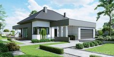 Find home projects from professionals for ideas & inspiration. Projekt domu HomeKONCEPT 46 by HomeKONCEPT Modern Family House, Modern House Plans, Modern House Design, Modern Bungalow Exterior, Modern Farmhouse Exterior, Style At Home, Beautiful House Plans, Architecture Wallpaper, Home Design Plans