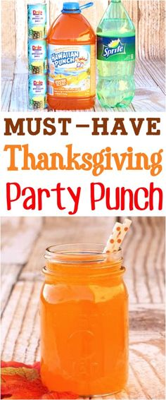 Thanksgiving Recipes - this orange Fall punch recipe is the perfect drink to serve at your next Autumn party! Thanksgiving Recipes - this orange Fall punch recipe is the perfect drink to serve at your next Autumn party! Kid Drinks, Fall Drinks, Holiday Drinks, Party Drinks, Yummy Drinks, Beverages, Thanksgiving Alcoholic Drinks, Holiday Punch, Fall Cocktails