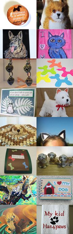 FRU Valentine Treasury Contest - Puppy (and Kitty) Love! by Jan Lewis on Etsy--Pinned+with+TreasuryPin.com