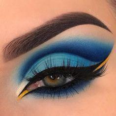 Makeup Eye Looks, Eye Makeup Art, Colorful Eye Makeup, Cute Makeup, Eyeshadow Looks, Pretty Makeup, Makeup Inspo, Eyeshadow Makeup, Makeup Ideas