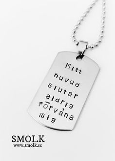 "Mitt huvud slutar aldrig förvåna mig ""My head never stops surprising me""🇬🇧 Smile Quotes, Qoutes, Myers Briggs Infj, Hand Stamped Jewelry, Typography Quotes, Wise Words, Best Quotes, Funny Pictures, Inspirational Quotes"